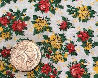 "Vintage 1950s Cotton Fabric Yardage,  Design,  44"" x 36"", 7 Yards Available"