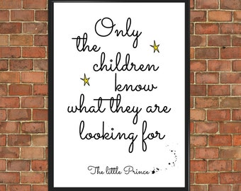 The Little Prince Quote Poster Le Petit Prince wall art  Art Print Wall Decor Home Gift Home Decor Inspirational typography art (008)