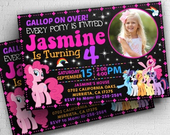 Little Pony, Little Pony Invitation, My Little Pony, My Little Pony Invitation, My Little Pony Birthday, My Little Pony Birthday Invitations