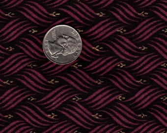 Purple Basketweave with Metallic Gold Accent Springs Industries Cotton OOP Fabric