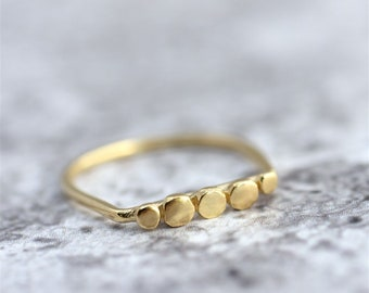 Unique Women Ring, Gold Stacking Ring, Gold Ring Women, Dots Ring, Gold Statement Ring, Statement Jewelry, Unique Stacking Ring, Thin Ring