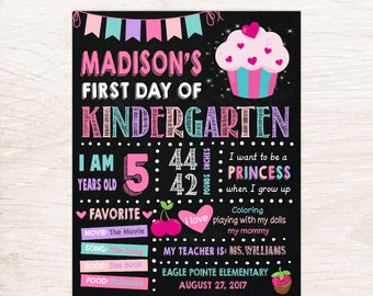 First Day Of School Sign Printable, First Day Of School Chalkboard Sign
