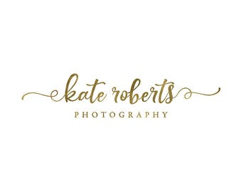 premade text logo, photography logo design, script font logo,  heart swash logo, business branding, photography watermark 041