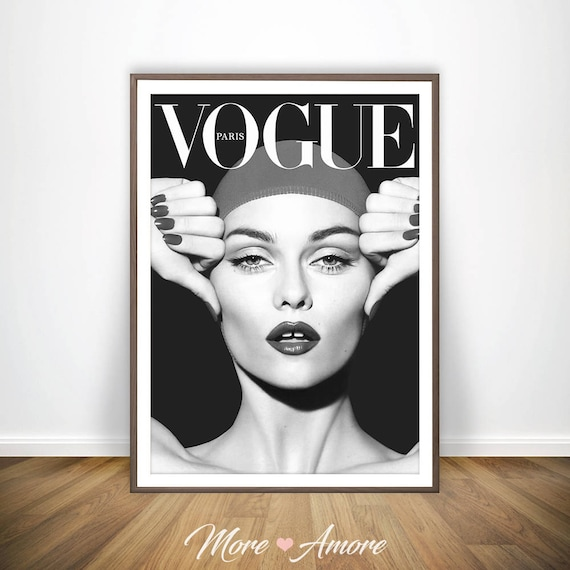 Vogue wall art vogue poster black and white photography