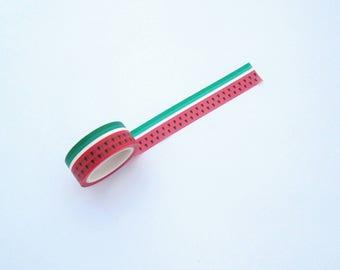 Watermelon washi tape, pretty washi tape, food washi tape, cute washi tape, planner accessories, planner gifts, school supplies