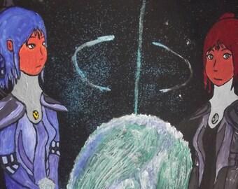 "Large Canvas Painting ""Moote Dis Poumm"""