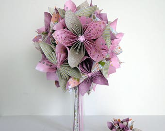 Origami country bridal bouquet