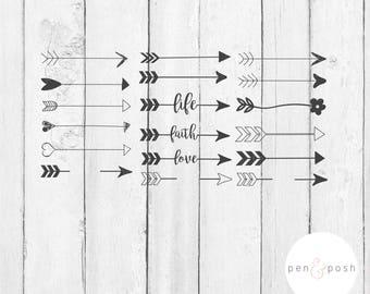 Arrow SVG - Valentine  Arrow Clipart - Arrow SVG File - Arrow   Svg Arrow - Svg Files for Cricut - Cut Files