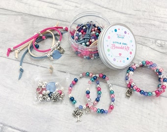 Owl Bracelet Kit, DIY Craft Kit, Jewellery Making Kit, Beads for Kids, Friendship Bracelet, Bead-Kids, Bracelet Kit, Beading Kit
