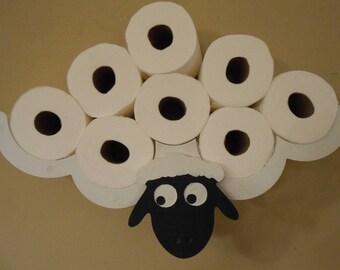 rangement papier toilette etsy. Black Bedroom Furniture Sets. Home Design Ideas