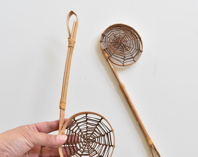 woven rattan bamboo spoons / ladle / 1 ladle