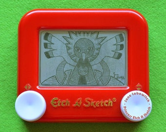 Xatu pokemon signed Etch A Sketch art print (pick your size!)