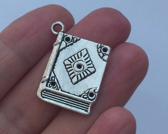 4 Book Charms Antique Silver - SC1004