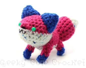 Colorful Fox Plush Toy Animal Stuffie Amigurumi Crochet