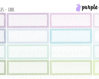 Herringbone Quarter Boxes // Planner Stickers!