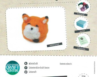 Needlefelting Kit - Needle Felted Animal Kit for Beginners - Craft Kit, Starter Kit, Guide Materials & Tools, DIY Crafts