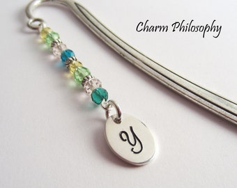 Personalized Initial Bookmark - Tibetan Silver Stationary - A Gift to Customize