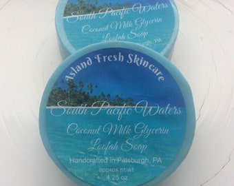 Coconut Milk Glycerin Loofah Soap, South Pacific Waters