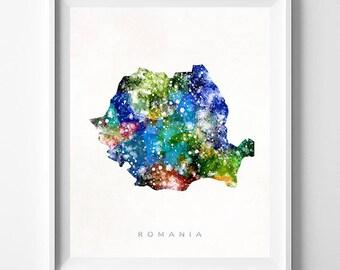 Romania Map Print, Bucharest Print, Romania Poster, Romanian Map, Map Art, State Art, Giclee Art, Map, Travel Poster, Fathers Day Gift
