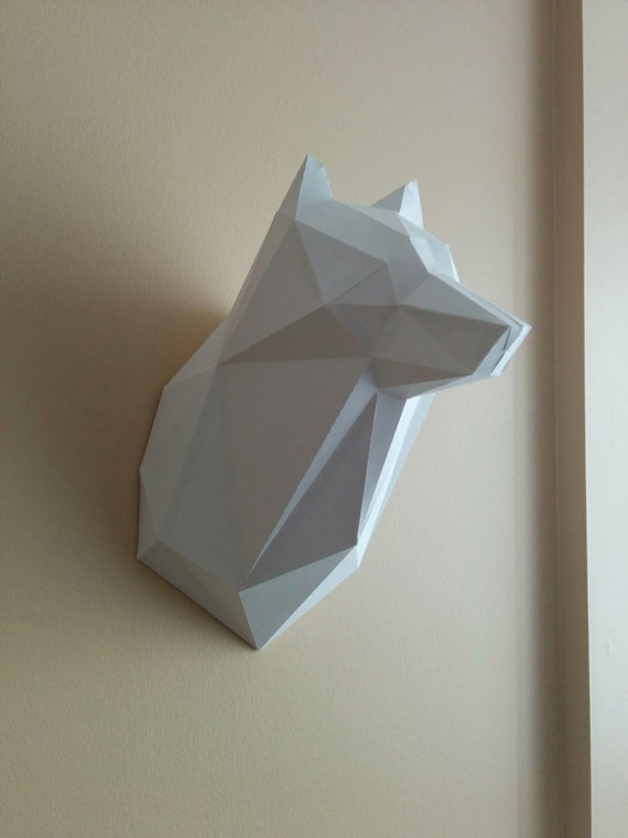 Printable Paper Model Of Wolf Trophy Diy Pdf Template