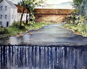 Artwork Print, ACEO, ATC of Stream - Watercolour Painting, Fine Art Print, Watercolor Print, Wall Art Print, Traditional Watercolor Print