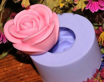 Rose 3D Flexible Silicone Mold Silicone Mould Candy Mold Chocolate Mold Soap Mold Polymer Clay Mold Resin Mold R1072