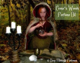 CRONE'S WOODS Perfume Oil - cedarwood, cinnamon bark, firewood, clove, wood honey, incense, pimento, wengue wood, rosewood, vetiver, amber