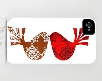 Love birds on Phone Case - iPhone 6S, iPhone 6 Plus, Samsung Galaxy S7, Gift Ideas, Valentines day, iPhone 8