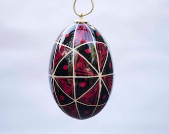 48 Triangles Egg Christmas Ornament