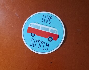 VW Bus Live Simply Window/Bumper Decal