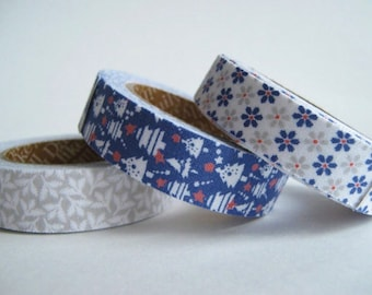 Fabric Tape, set of 3 Snowbell