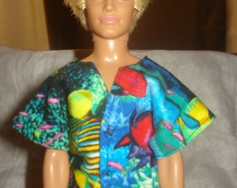 Colorful Hawiian shirt for Male Fashion Dolls - kdc16