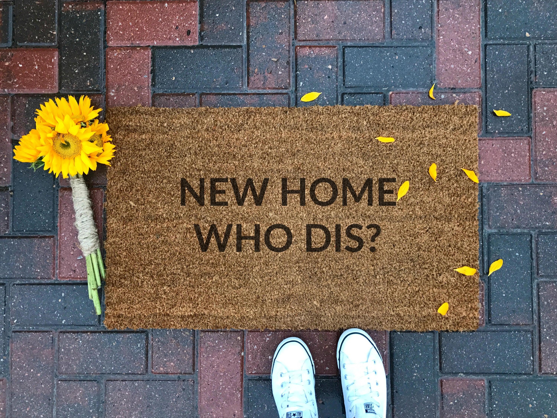 New home who dis doormat custom doormat funny doormat zoom kristyandbryce Images