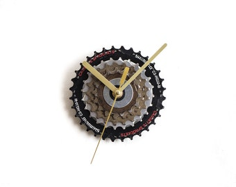 Bicycle Wall Clock, Steampunk Wall Clock, Bike Wall Clock, Industrial Wall Clock, Unique Wall Clock, Unique Gift, Modern Clock, Cyclist Gift