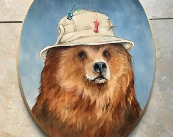 The Fisher Bear - Large Painting