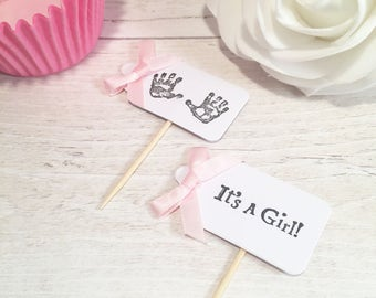 Baby Shower Cupcake Flags