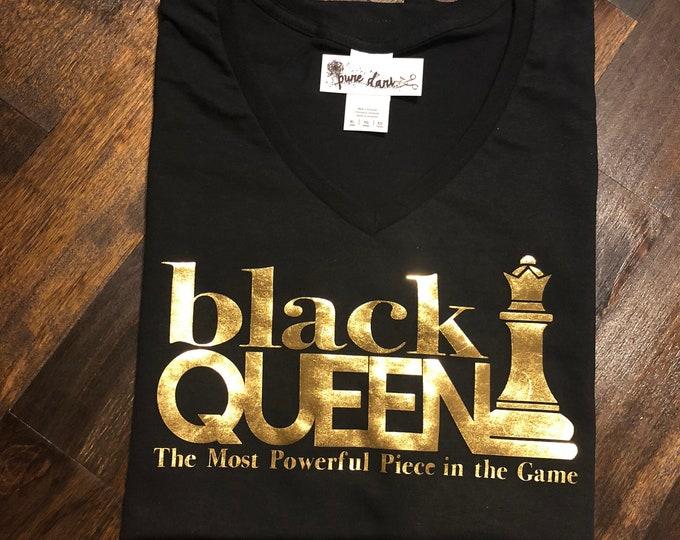 Black Queen Women's V-Neck T-Shirt