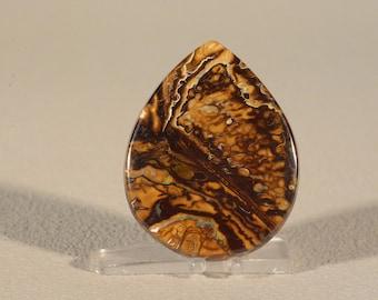 Koroit Boulder Opal Cabochon. Handcrafted USA. Natural Gemstone.