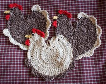 Crochet Rooster Potholders