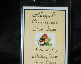 Chestnuts and Brown Sugar Handmade Natural Soy Melting Tarts by Abigail's on Main
