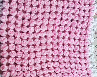 Vintage pompom blanket