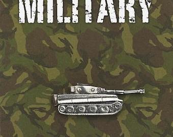 Military Panzer Tank Pewter Pin Badge