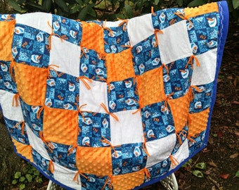 """Olaf Quilt and free 8"""" Olaf Plush"""