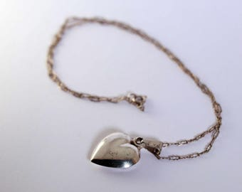 Sterling Silver Heart Pendant Chain
