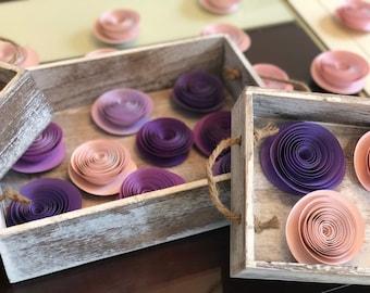12 ct or 1 dozen Paper Flowers -- Home Decor -- Spiral Flowers -