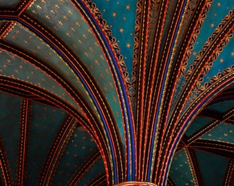 Notre-Dame Basilica III. Montreal Church Architectural Photography, Quebec Cathedral Architectural Fine Art, Montreal Church Ceiling Detail