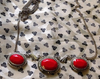 Gorgeous Red Vintage Necklace - Price Reduced