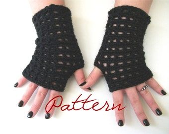 Lace Fingerless Gloves Crochet Pattern Wrist Warmers