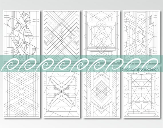 Coloring Book for Adults Geometric Adult Coloring Pages