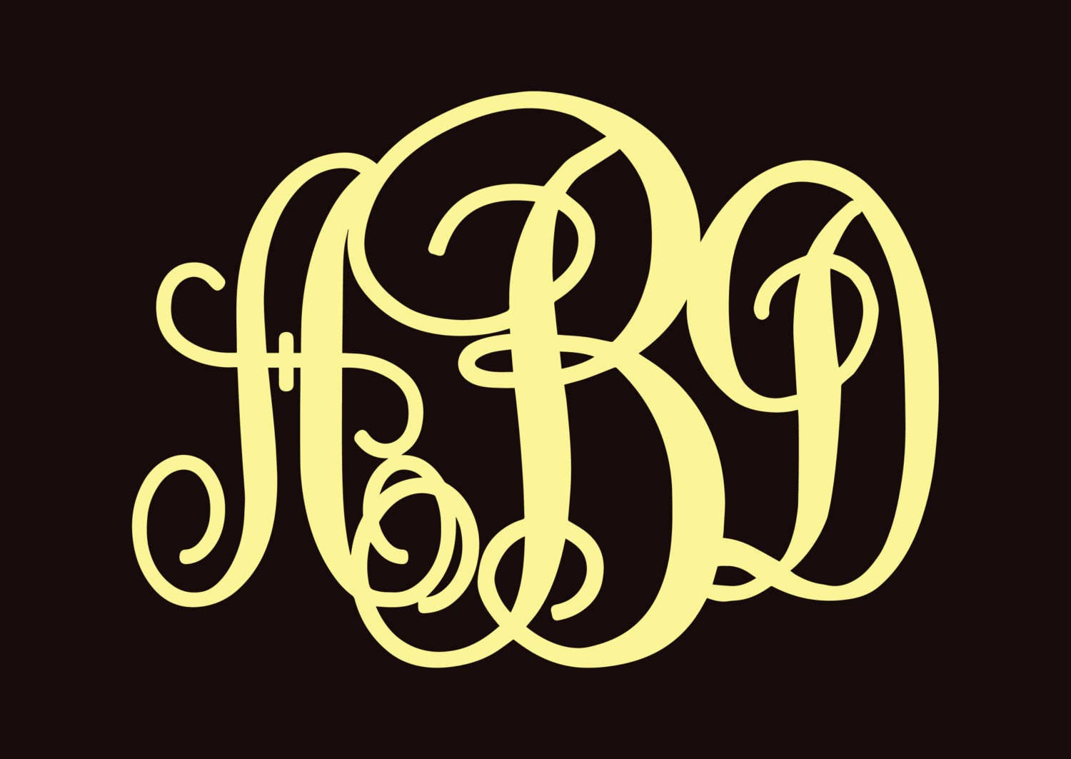 Newlywed Gift - Home decor - WOODEN MONOGRAM Wall Letters Unpainted ...